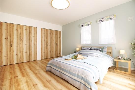 1号地モデルハウスの寝室です。